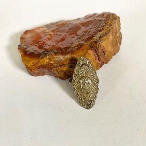 Vintage Sterling Silver Statement Ring